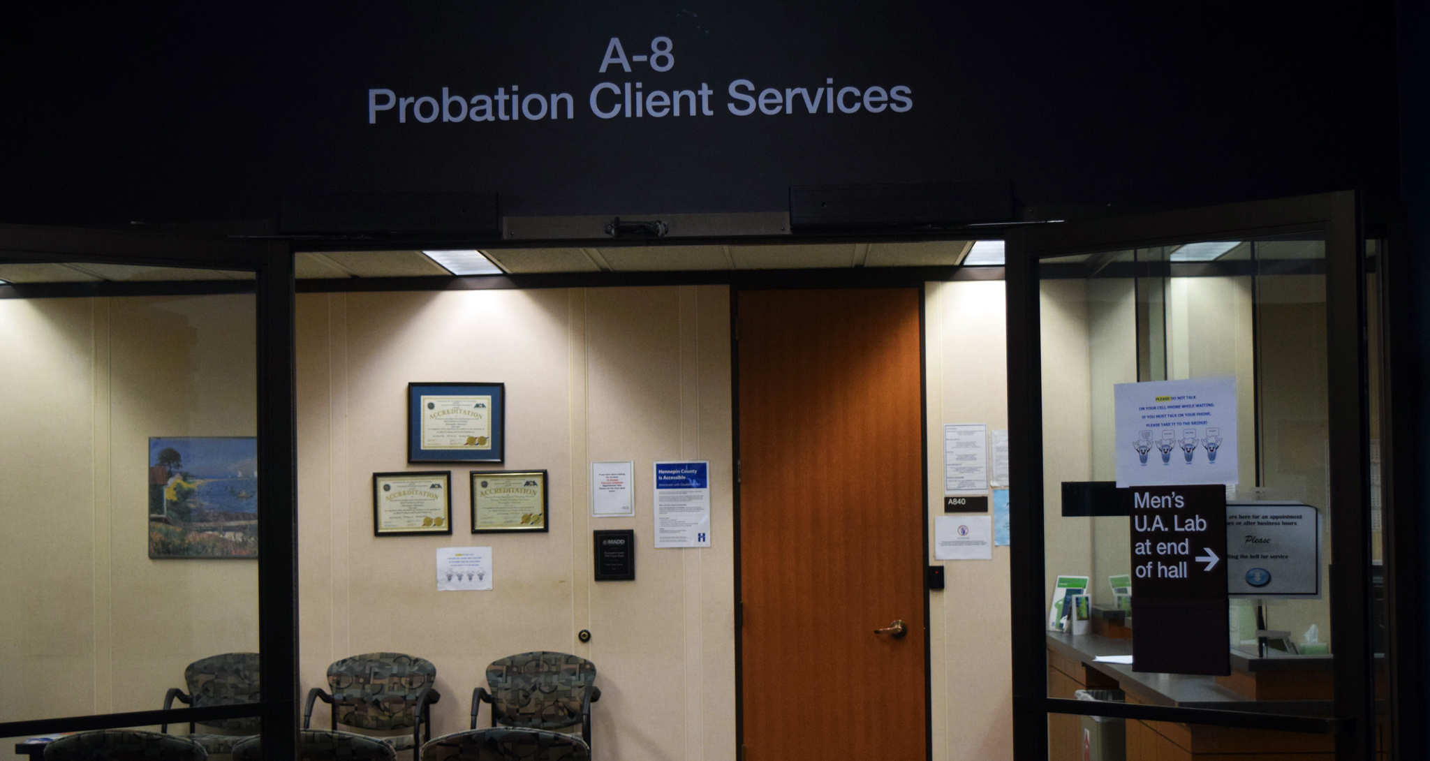 Probation office at Hennepin County