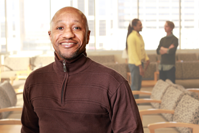 Robert Gillum works at Red Door, where he encourages clients to get tested for HIV