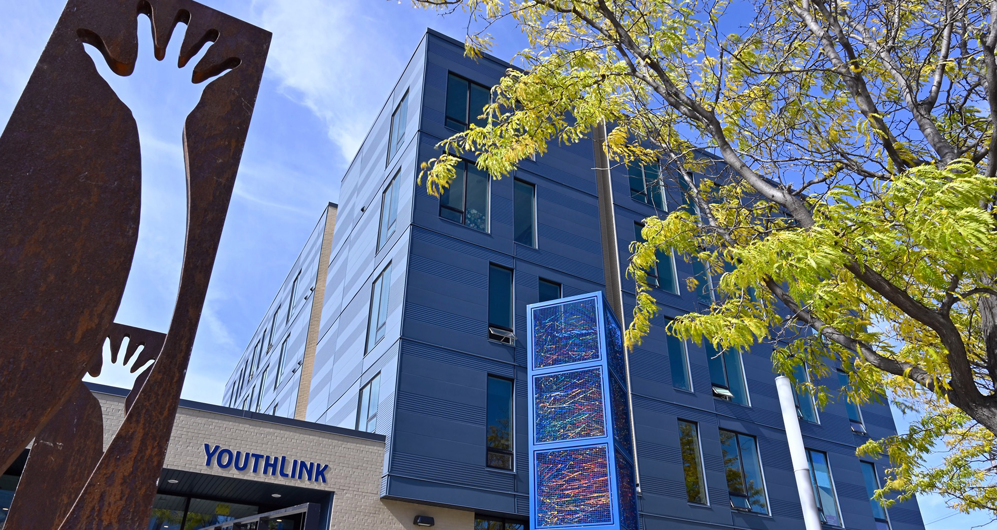 Exterior of Youthlink building