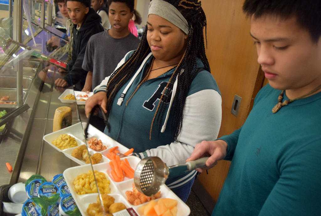 Students are served healthy recipes